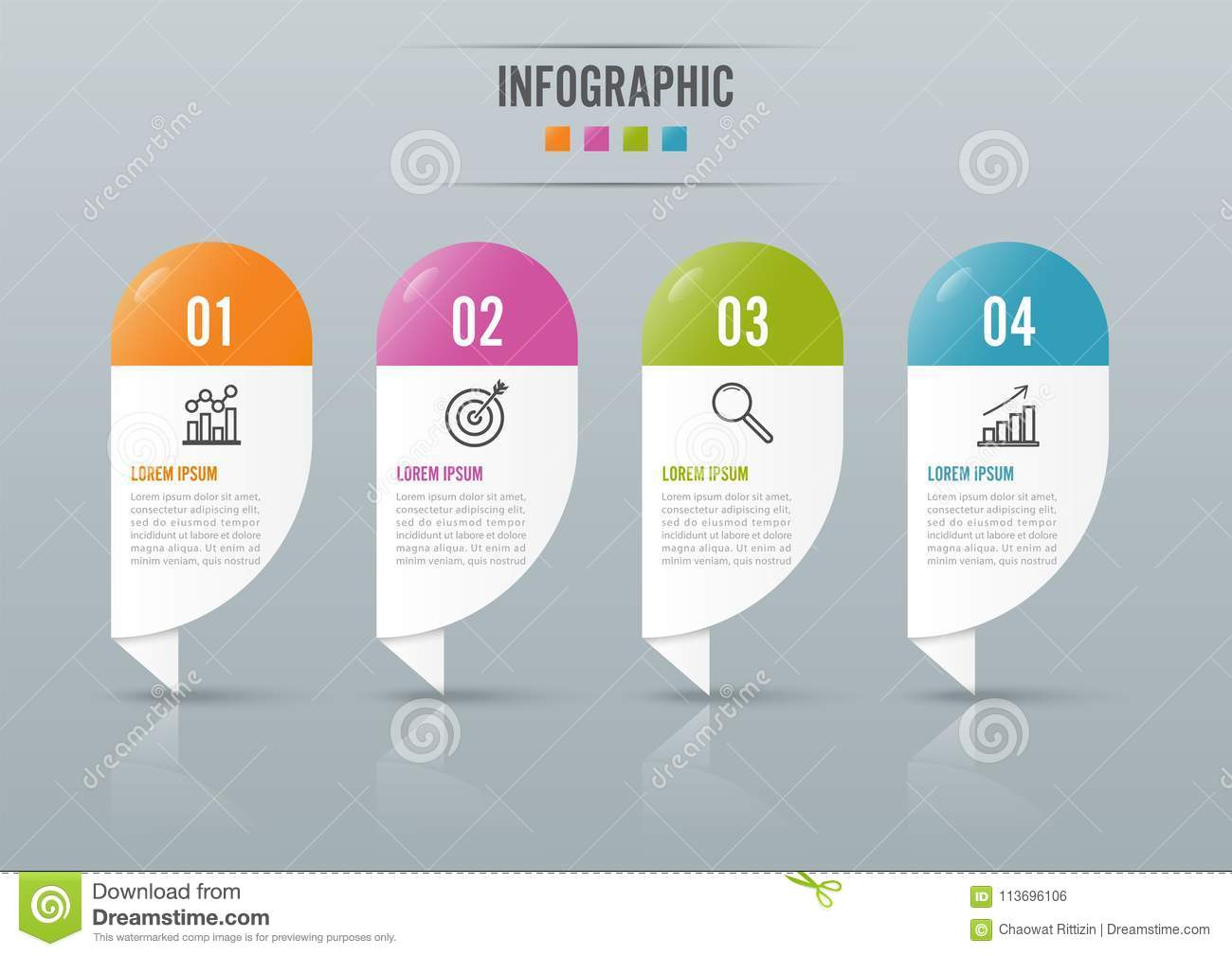 Infographics Design And Marketing Icons Can Be Used For Workflow ...