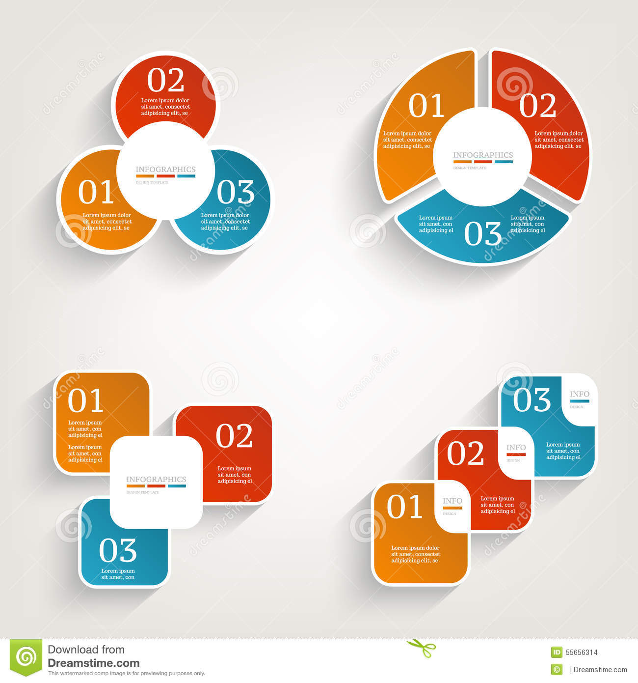 Infographics Design Template. Business Concept With 3 Options ...