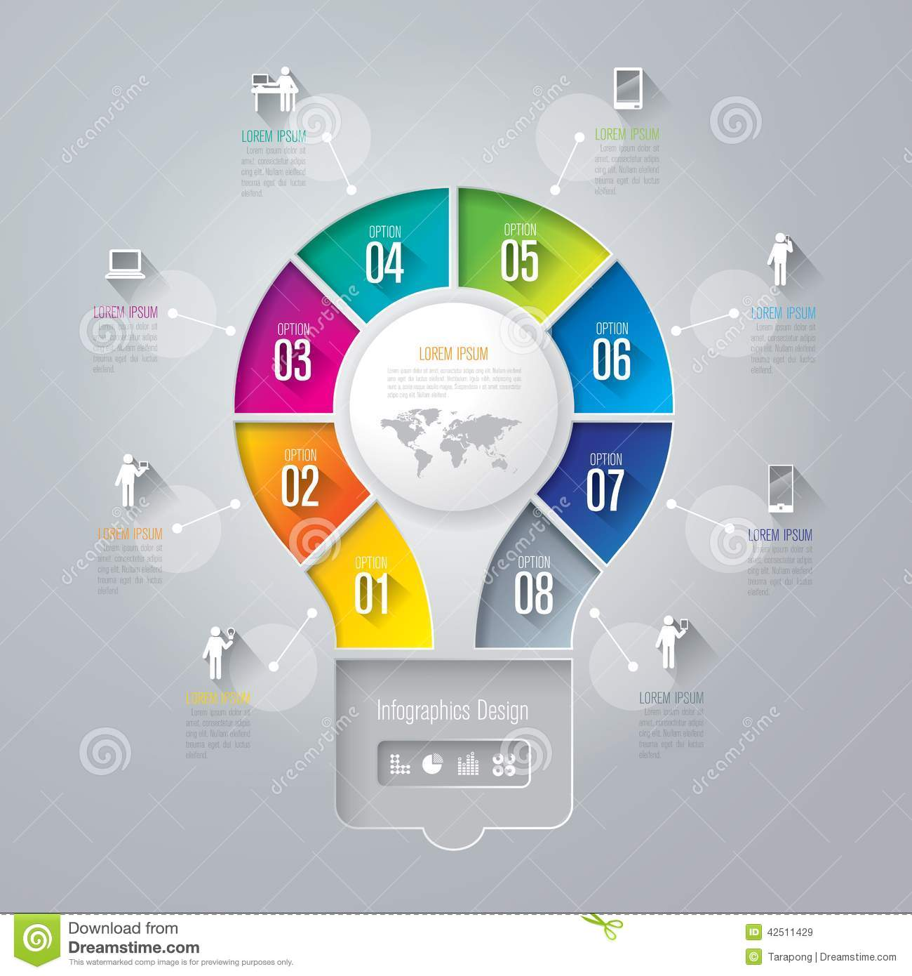 Infographics Design Template. Stock Vector - Image: 42511429
