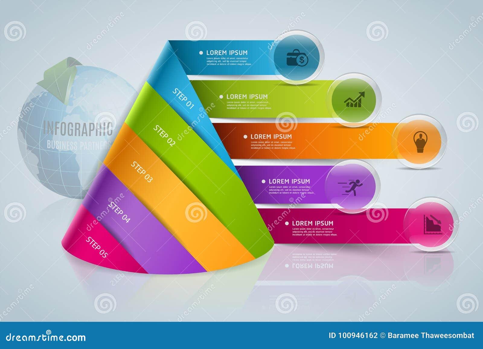 Infographics digital moderno abstrato da bandeira do vetor do molde
