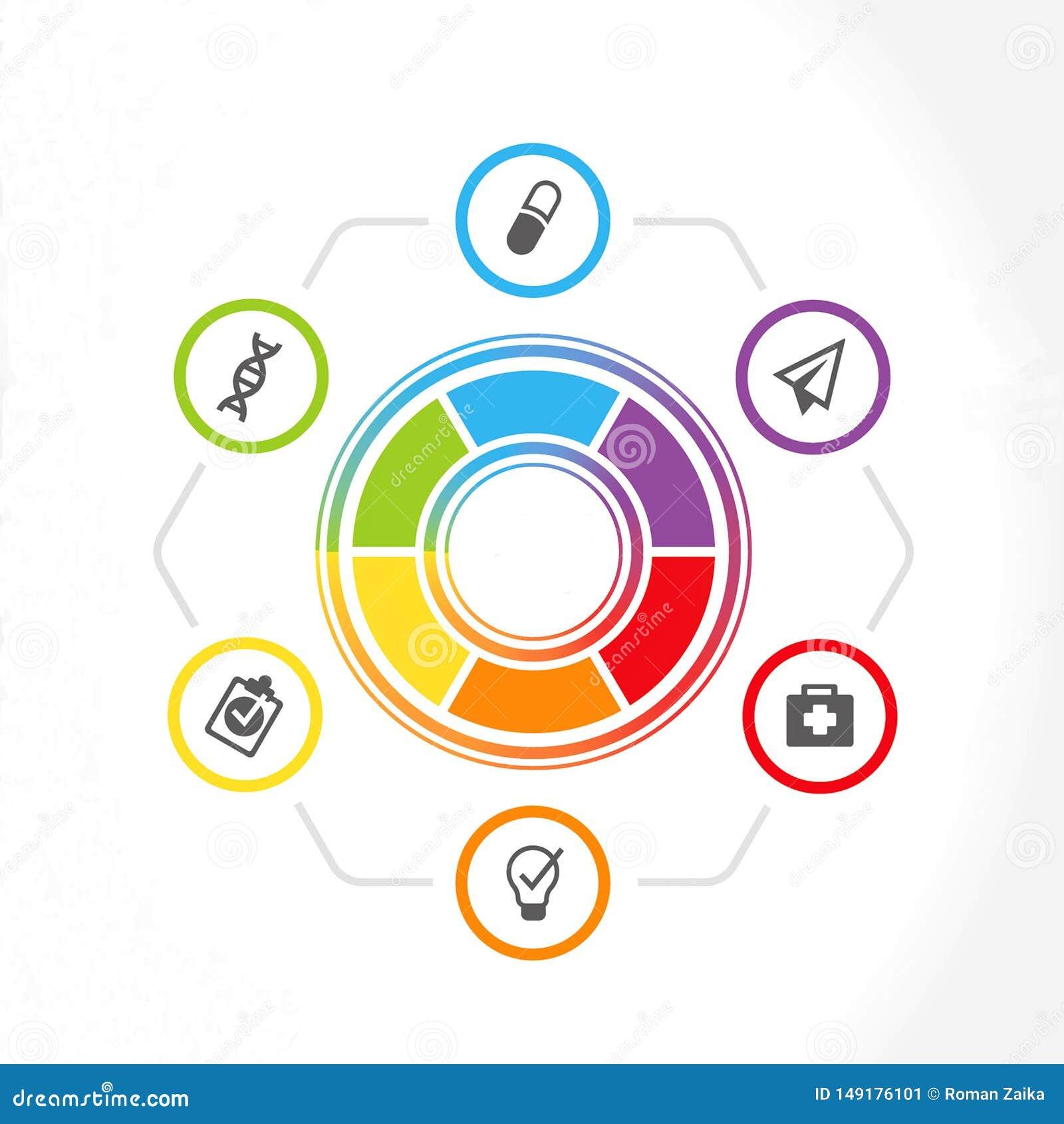 Infographics dla prezentacji kliniki lub lekarki