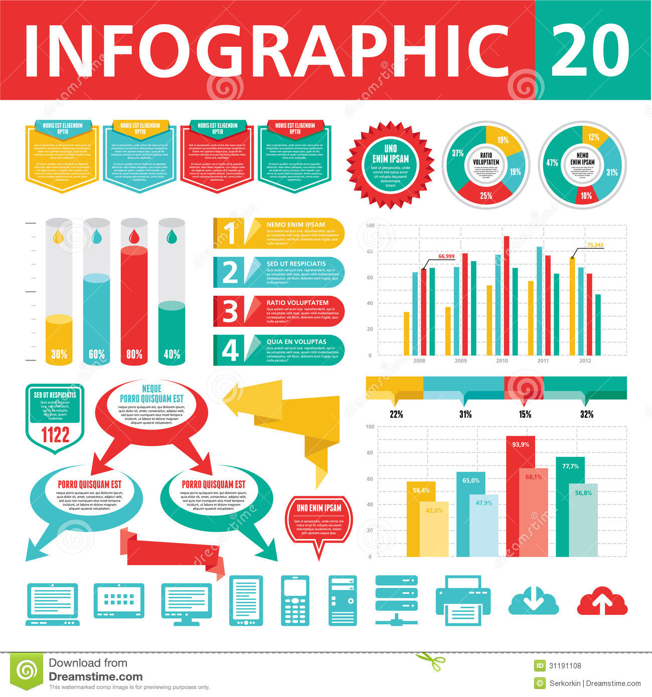 Infographics Elements 20 Royalty Free Stock Photos - Image: 31191108
