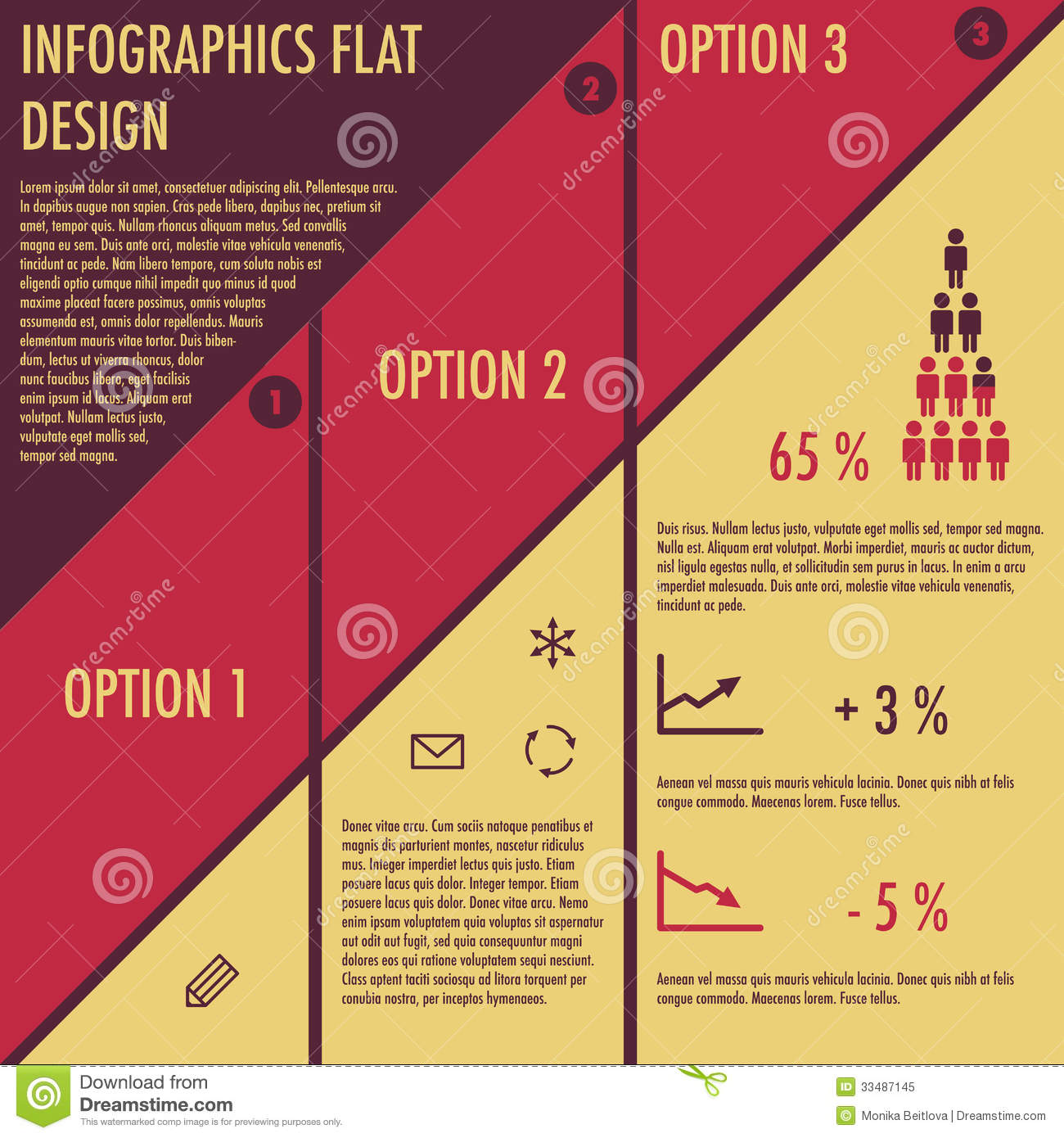 infographics with flat design stock vector illustration of