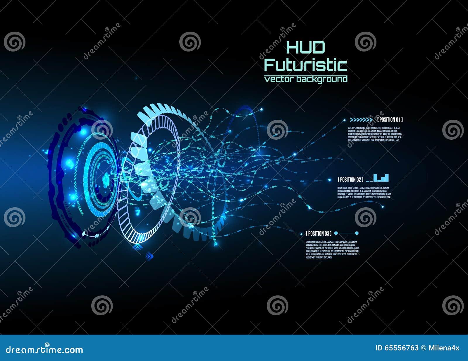Infographics futuriste d interface, HUD, fond de vecteur
