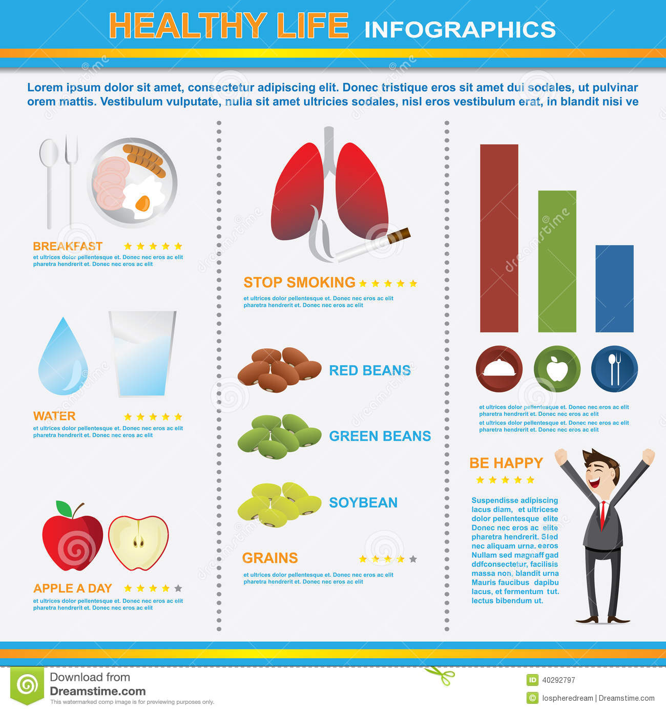 Infographics Of Healthy Lifestyle Stock Vector Image