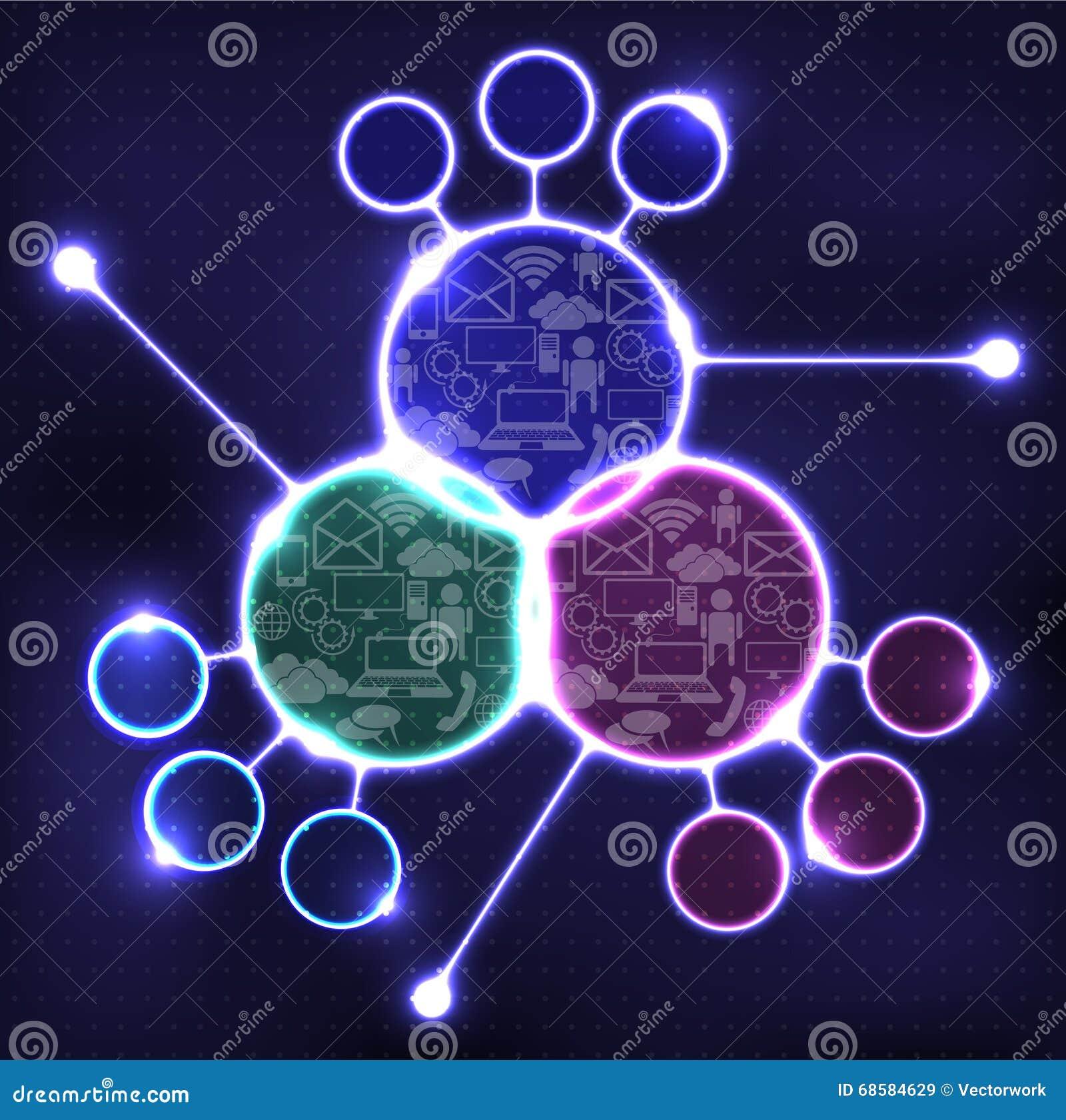 Infographics High Technology, Futuristic Design Template Stock ...