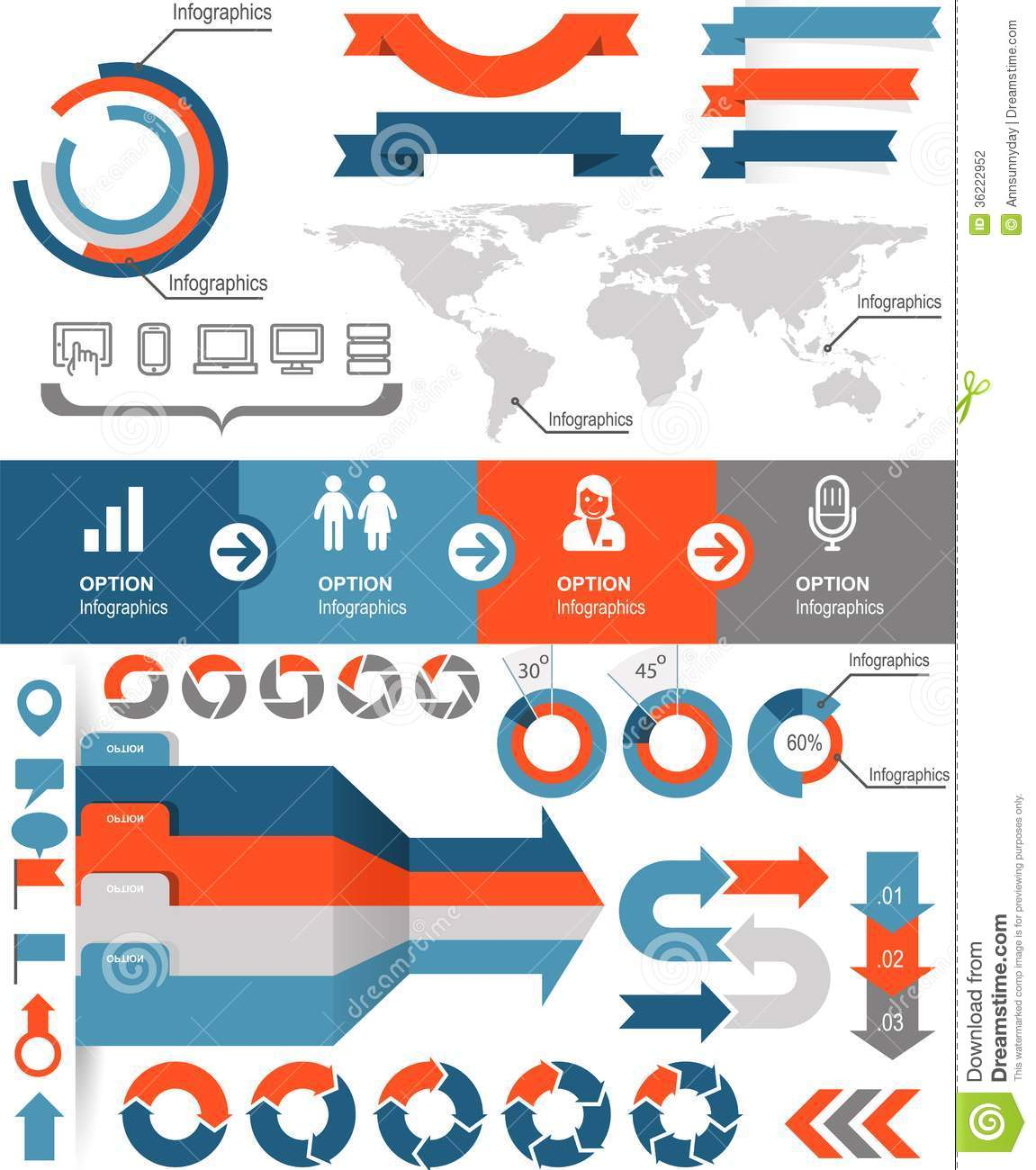 Infographics Icons Stock Photography - Image: 36222952