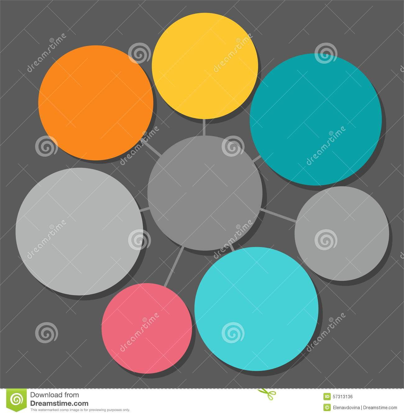 Infographics Round Frame For Text Color Stock Vector