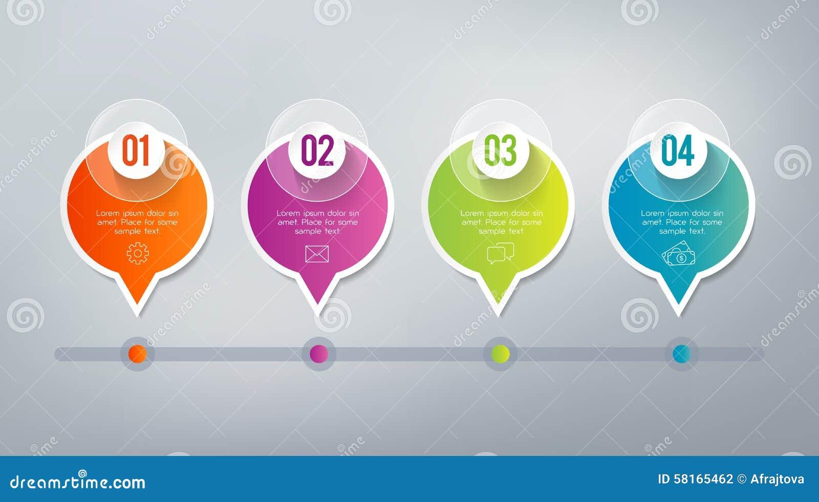 Infographics - 4 Schritte