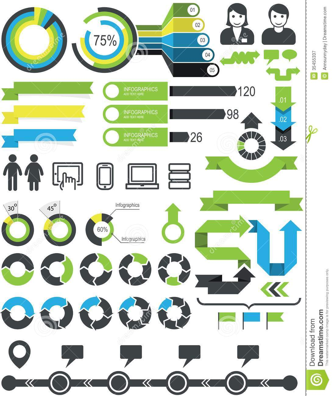 Infographics And Statistic Elements Royalty Free Stock ...
