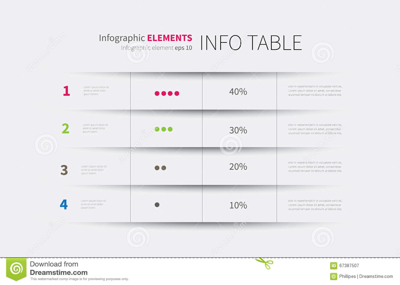 Tables Modern Design Templates Columns Rows