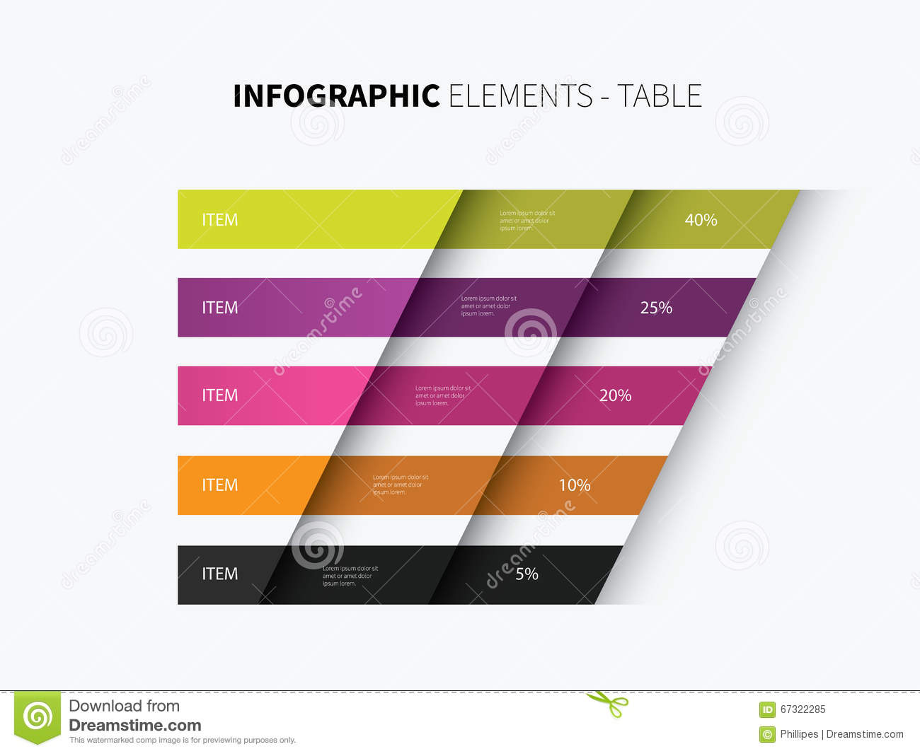 Infographics table design stock vector image of chart for Table graphic design