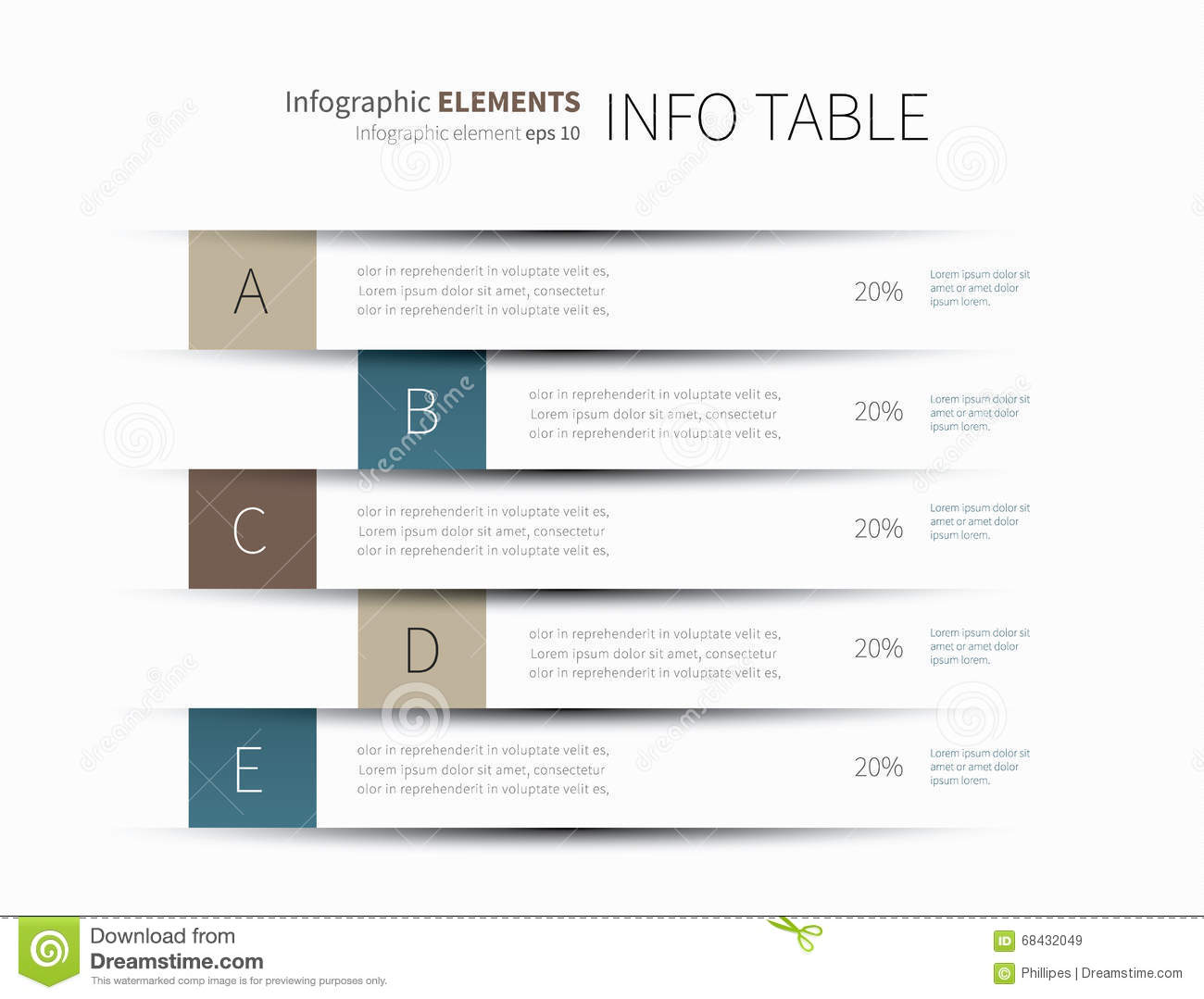 Infographics table lines