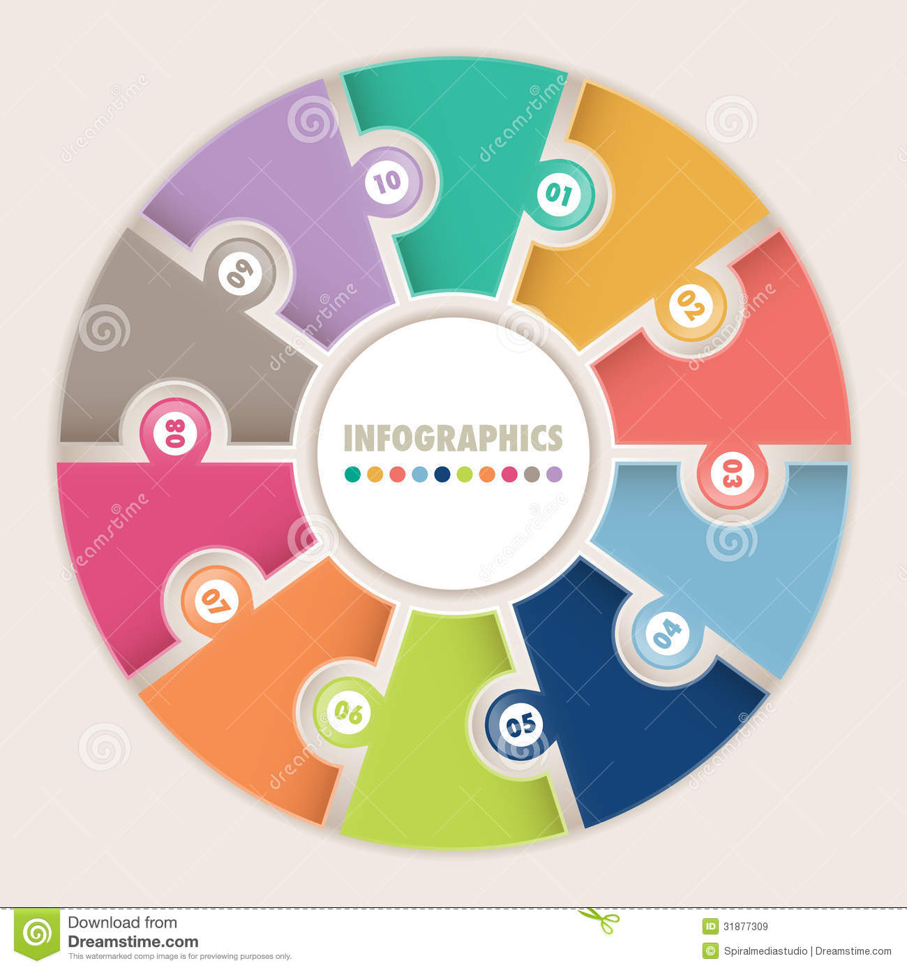 ... Options Circular Puzzle Royalty Free Stock Images - Image: 31877309