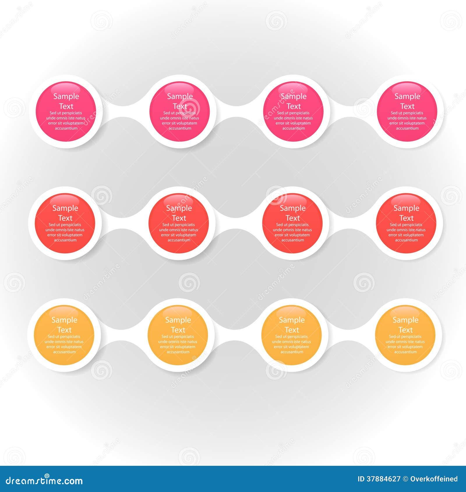 Infographics van het Metaball kleurrijke ronde diagram