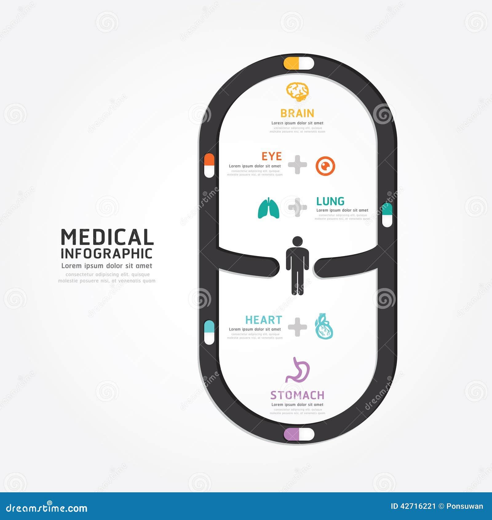 Infographics Vector Medical Capsule Design Diagram Line ...