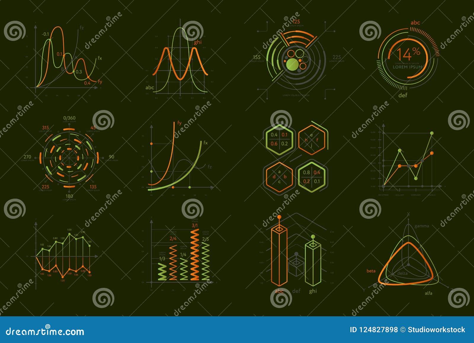 Infographics voor bedrijfspresentatie wordt geplaatst die