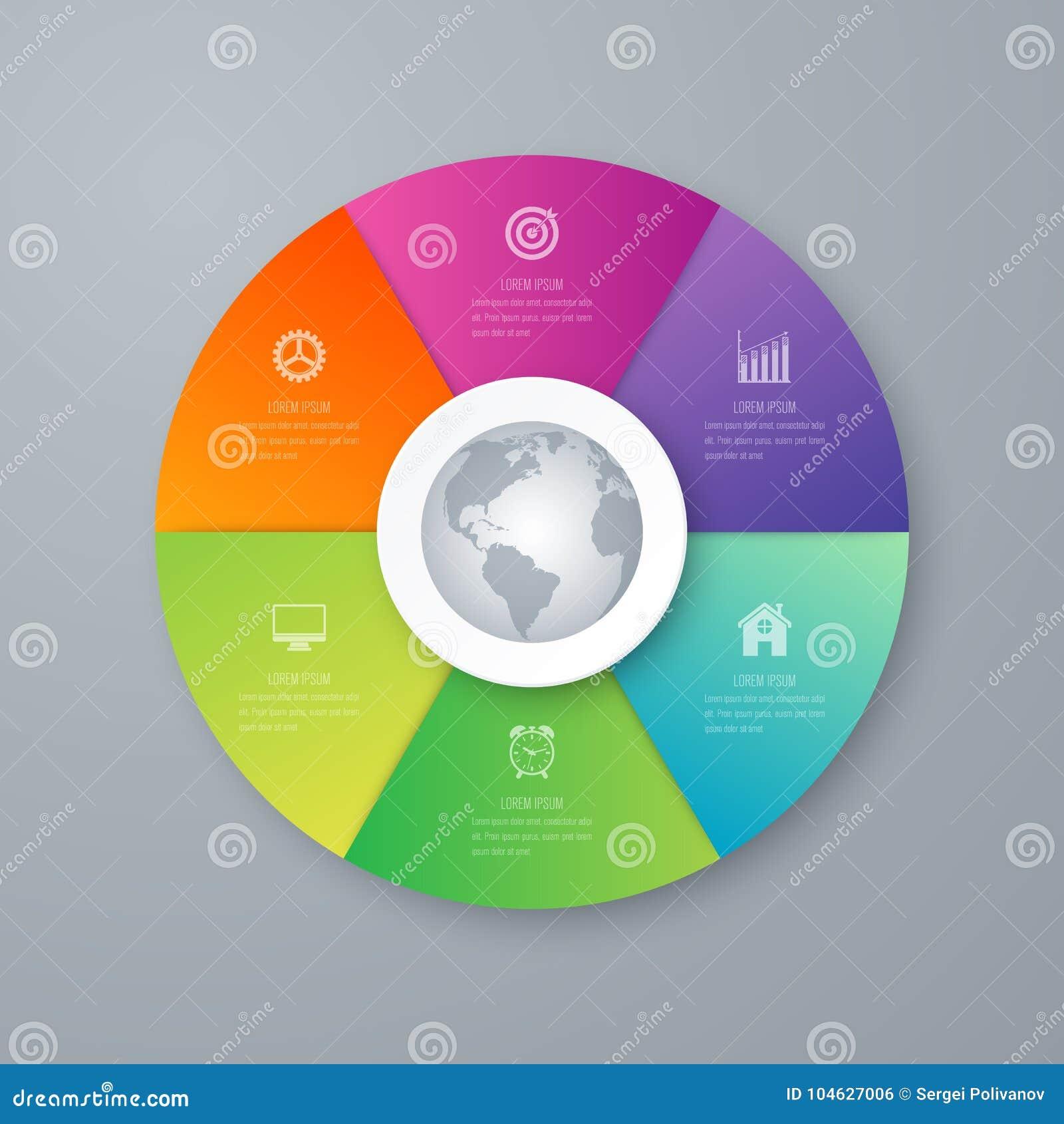 Download Infographicsmalplaatje 6 Opties Met Cirkel Vector Illustratie - Illustratie bestaande uit ontwerp, grafisch: 104627006