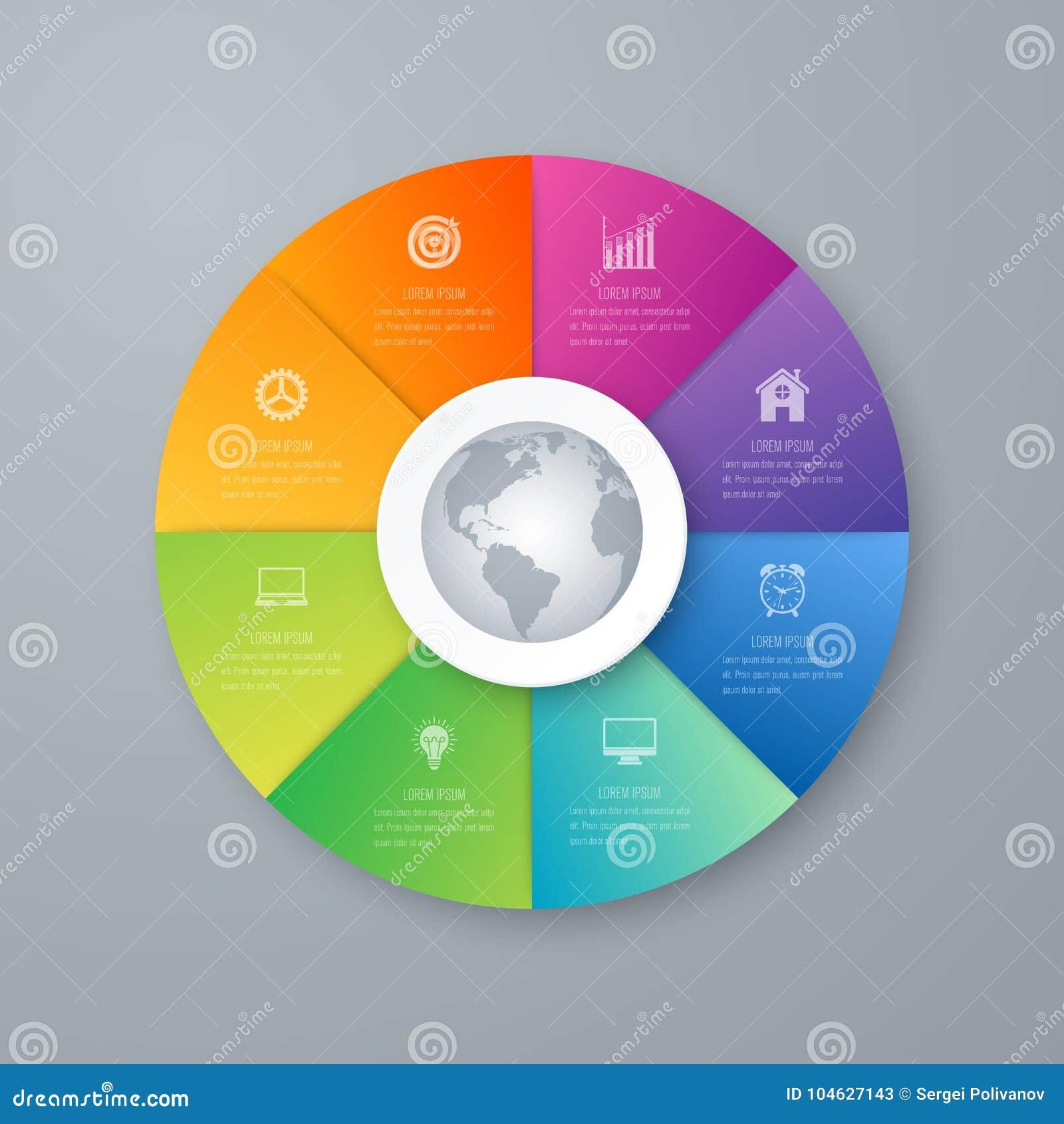 Download Infographicsmalplaatje 8 Opties Met Cirkel Vector Illustratie - Illustratie bestaande uit grafiek, samenvatting: 104627143