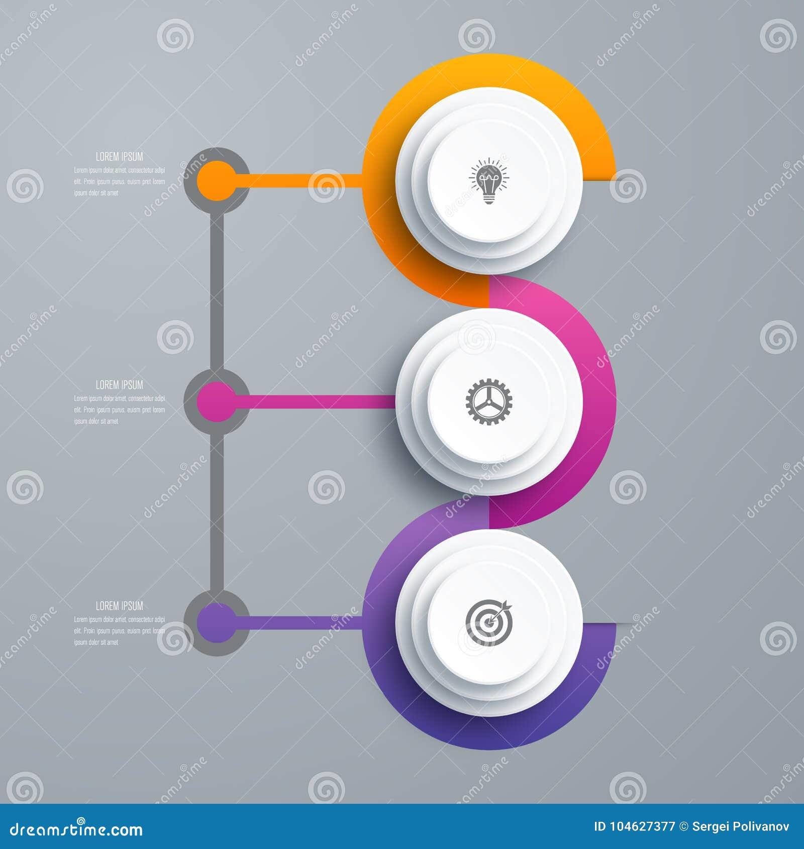Download Infographicsmalplaatje 3 Opties Met Cirkel Vector Illustratie - Illustratie bestaande uit banner, media: 104627377