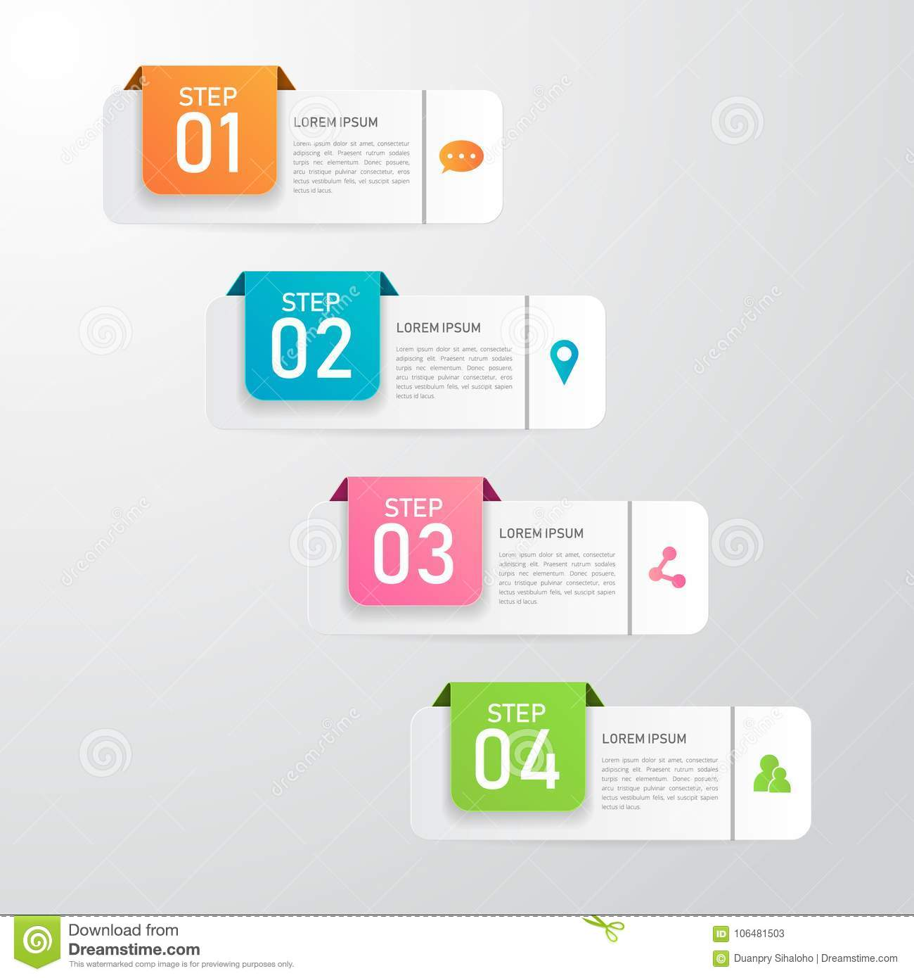 Inforgraphic Banner Template Stock Vector Illustration Of Banners Element 106481503
