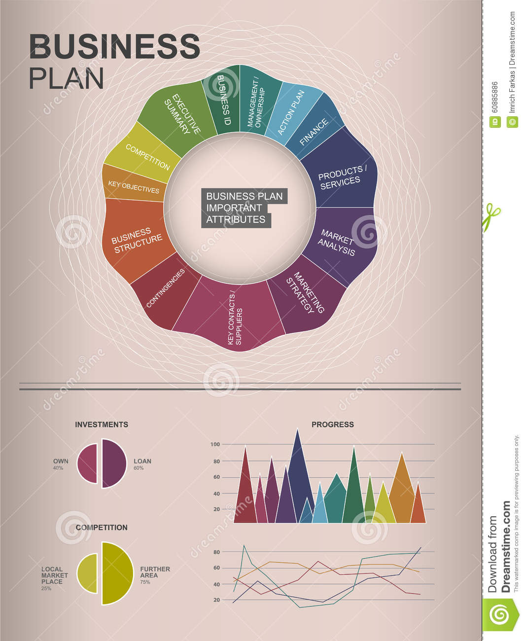 Inforgraphic business plan template stock vector illustration of download inforgraphic business plan template stock vector illustration of global element 60885886 wajeb Gallery