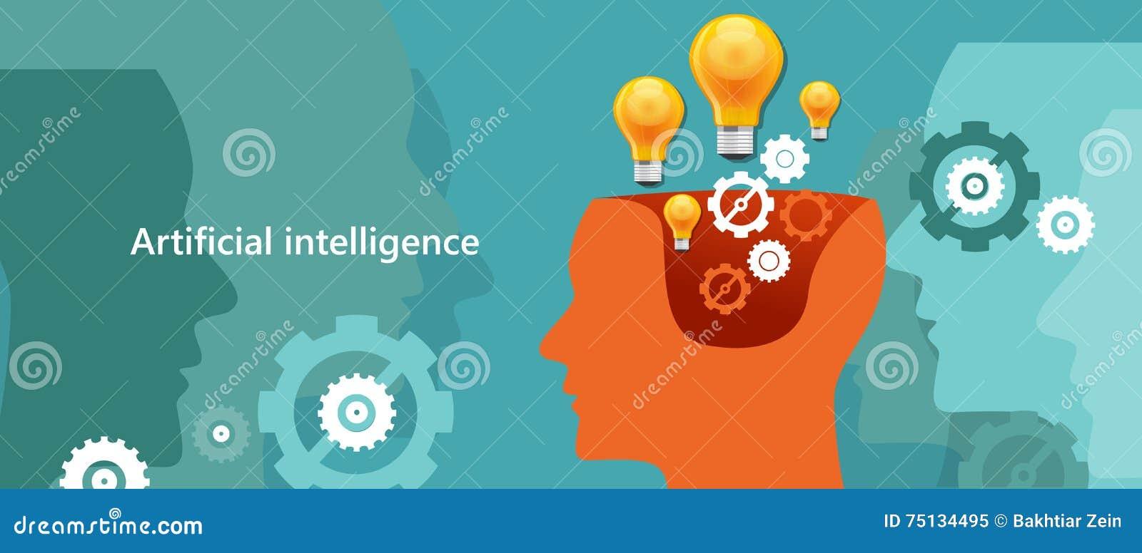 Informática da inteligência artificial do AI a criar humano-como o cérebro do robô