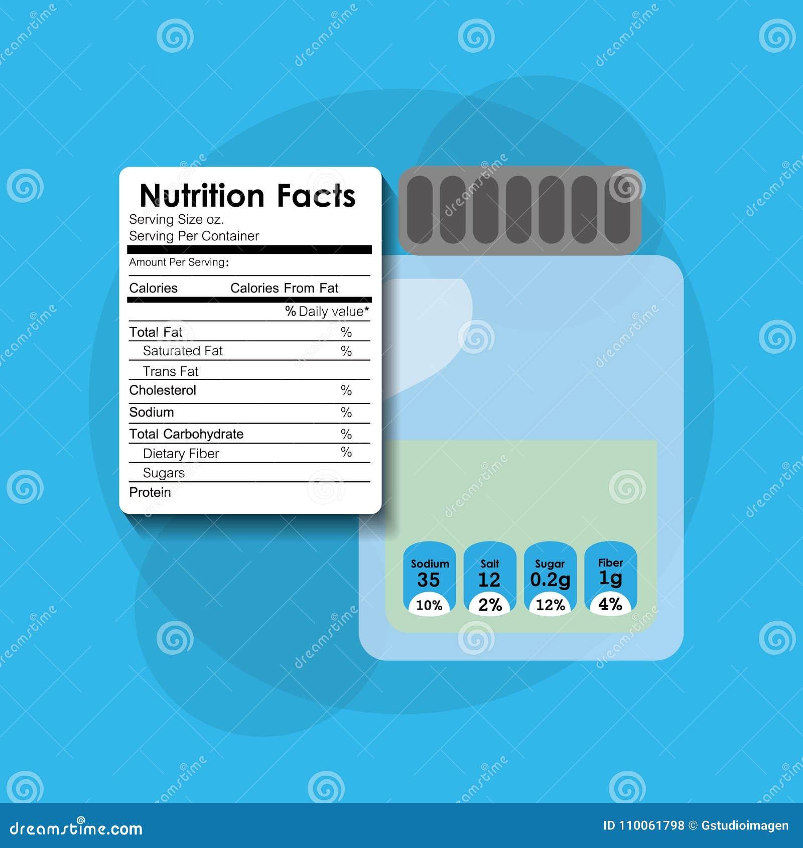 Información de la etiqueta engomada de los hechos de la nutrición del cristal de botellas