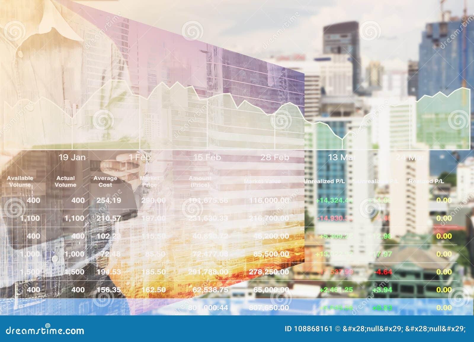 Información del índice del mercado de acción de la perspectiva del negocio de las propiedades inmobiliarias