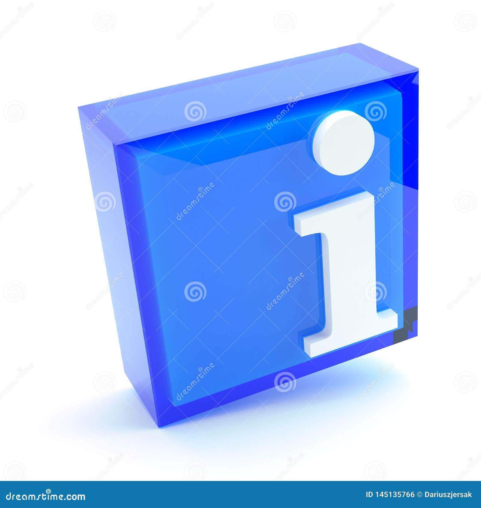 Informacja znak, 3D ilustracja