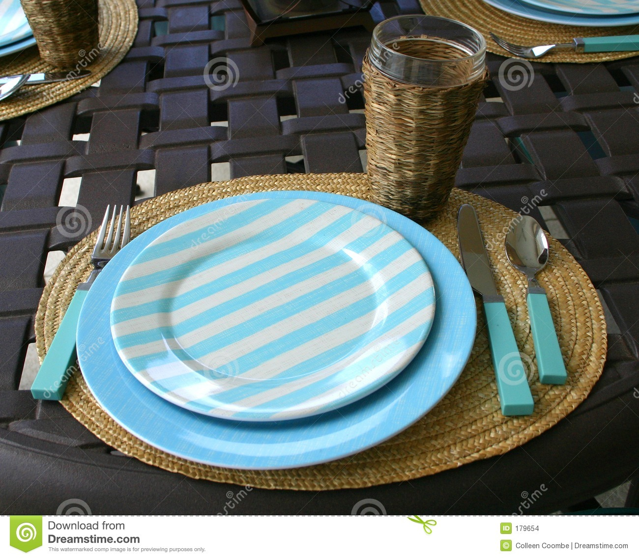 Informal Place Setting Stock Photo Image Of Holder