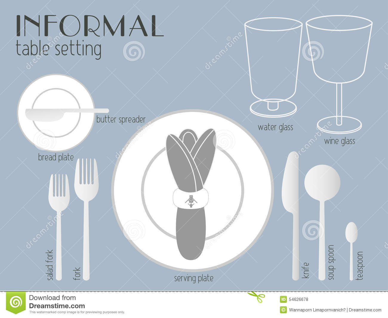 Exceptionnel INFORMAL TABLE SETTING