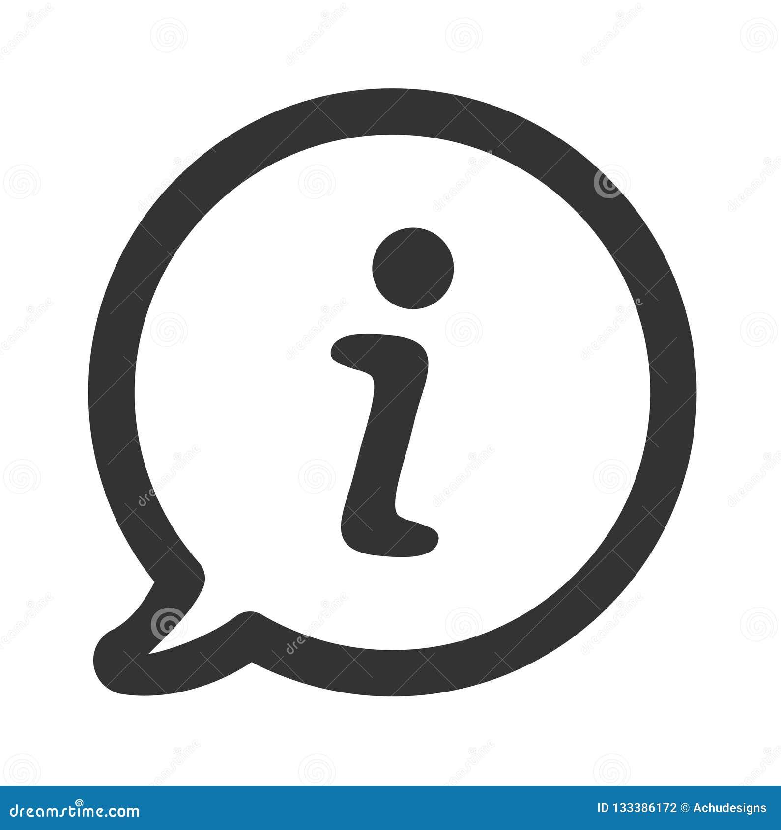 Informatie in het pictogram van de toespraakbel