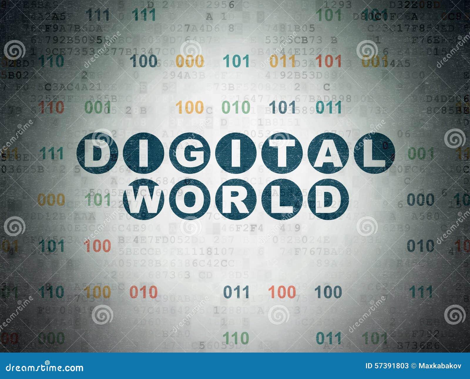 Informatieconcept: Digitale Wereld op Digitaal