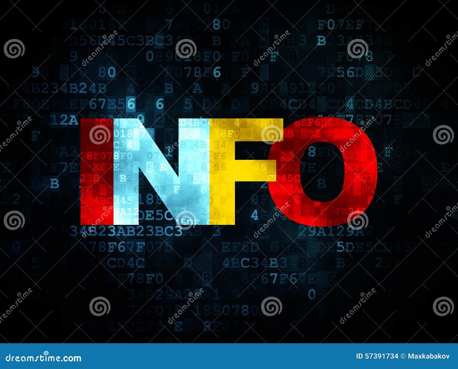 Informatieconcept: Informatie over Digitale achtergrond