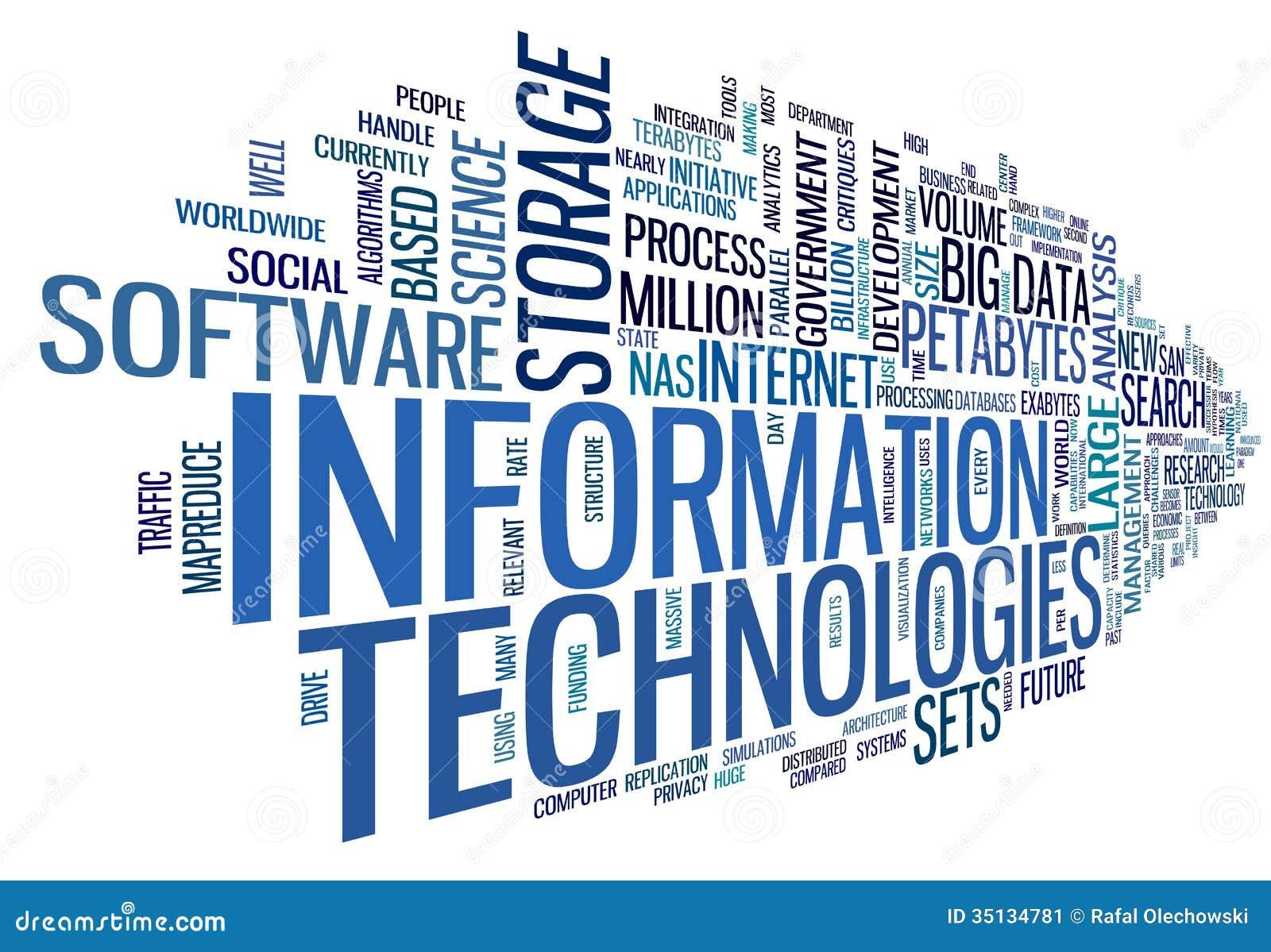 Informatietechnologie in markeringswolk
