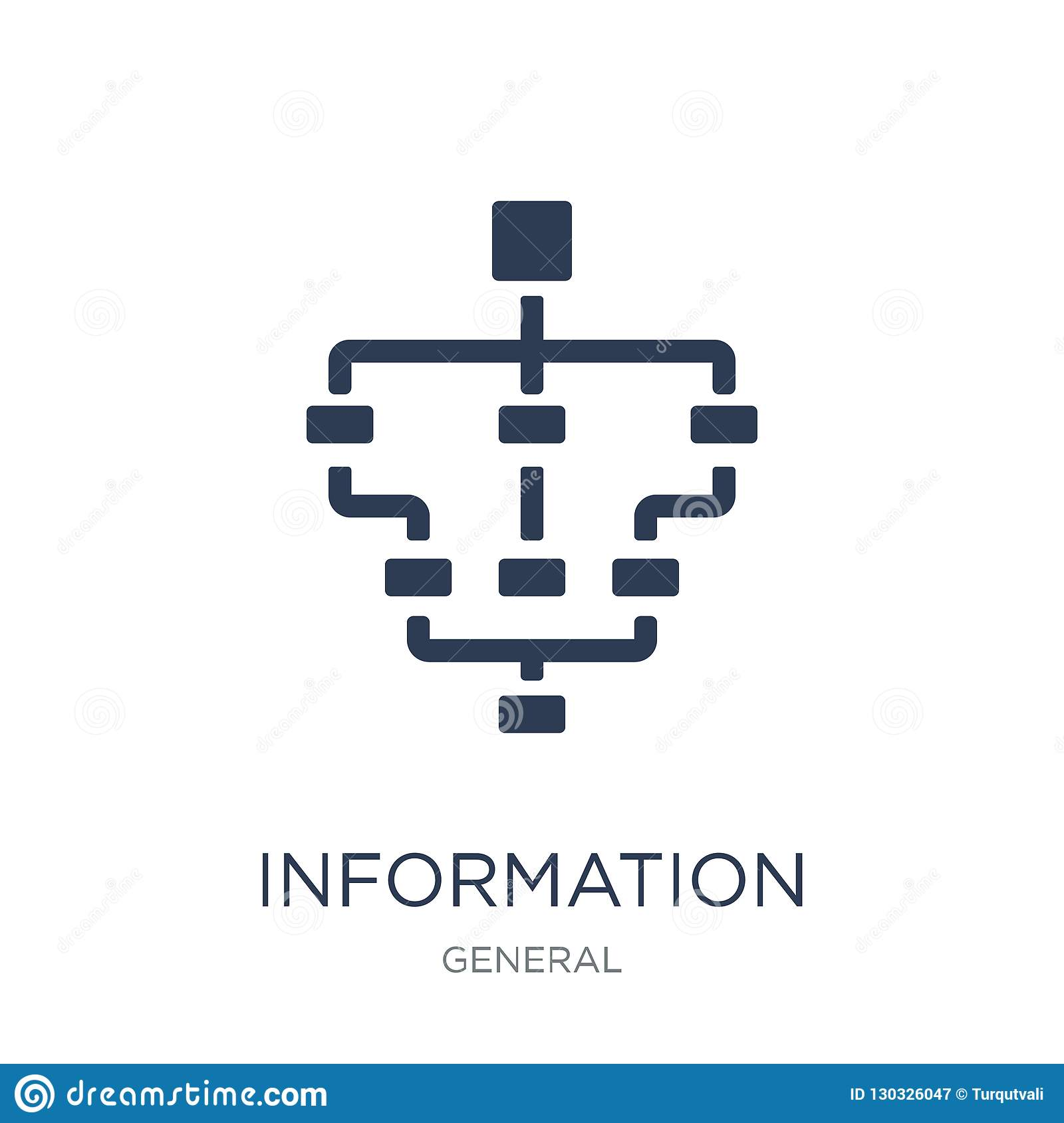 information architecture icon. Trendy flat vector information ar
