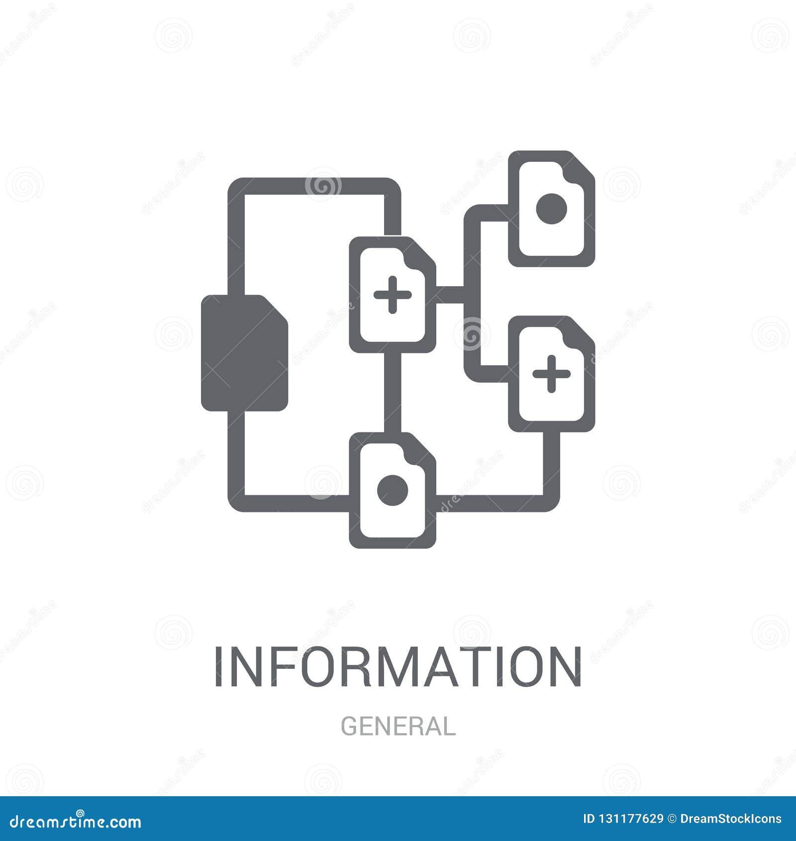 information architecture icon. Trendy information architecture l