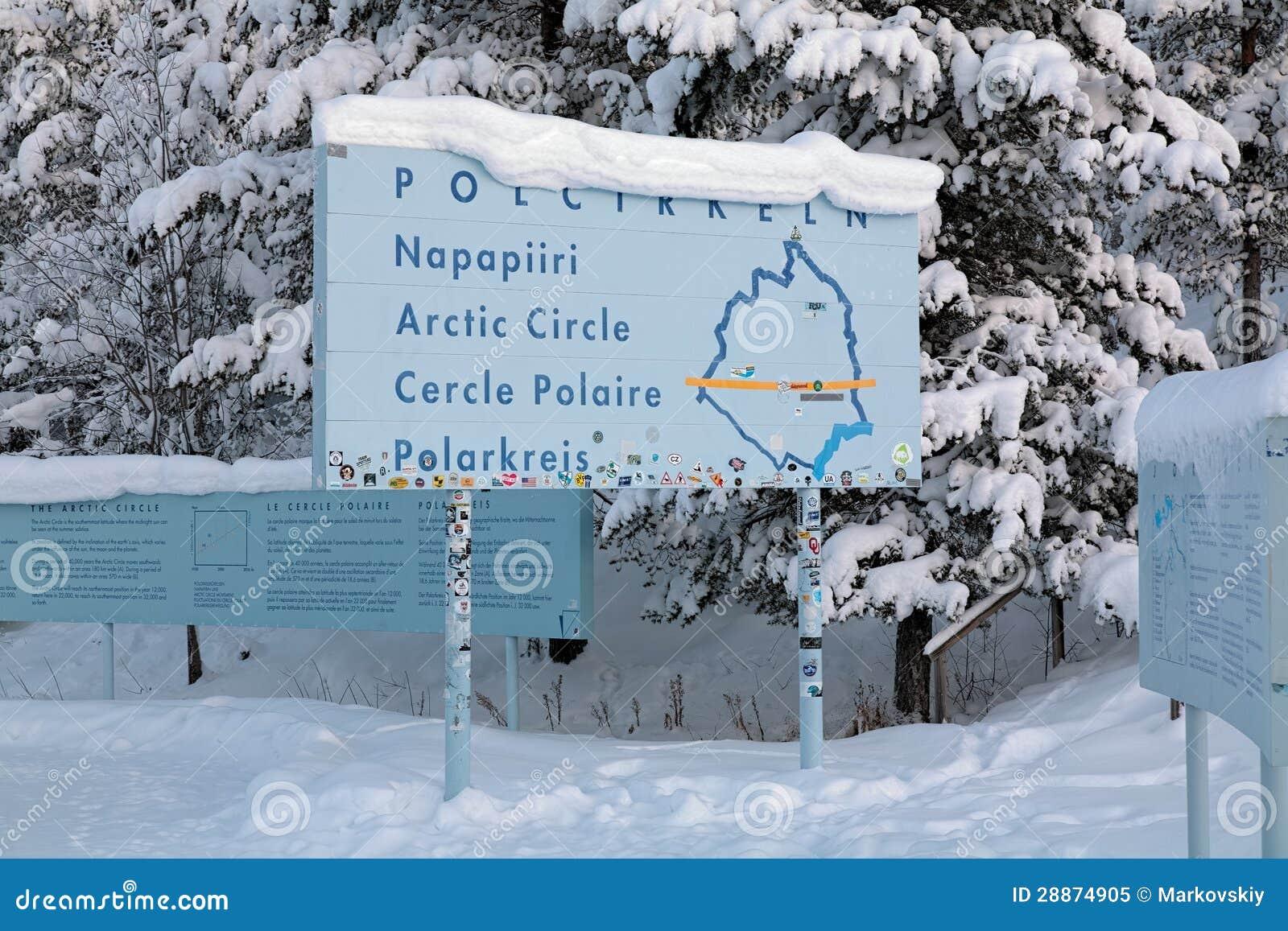 Information Board About The Arctic Circle Jokkmokk Sweden - Jokkmokk sweden map