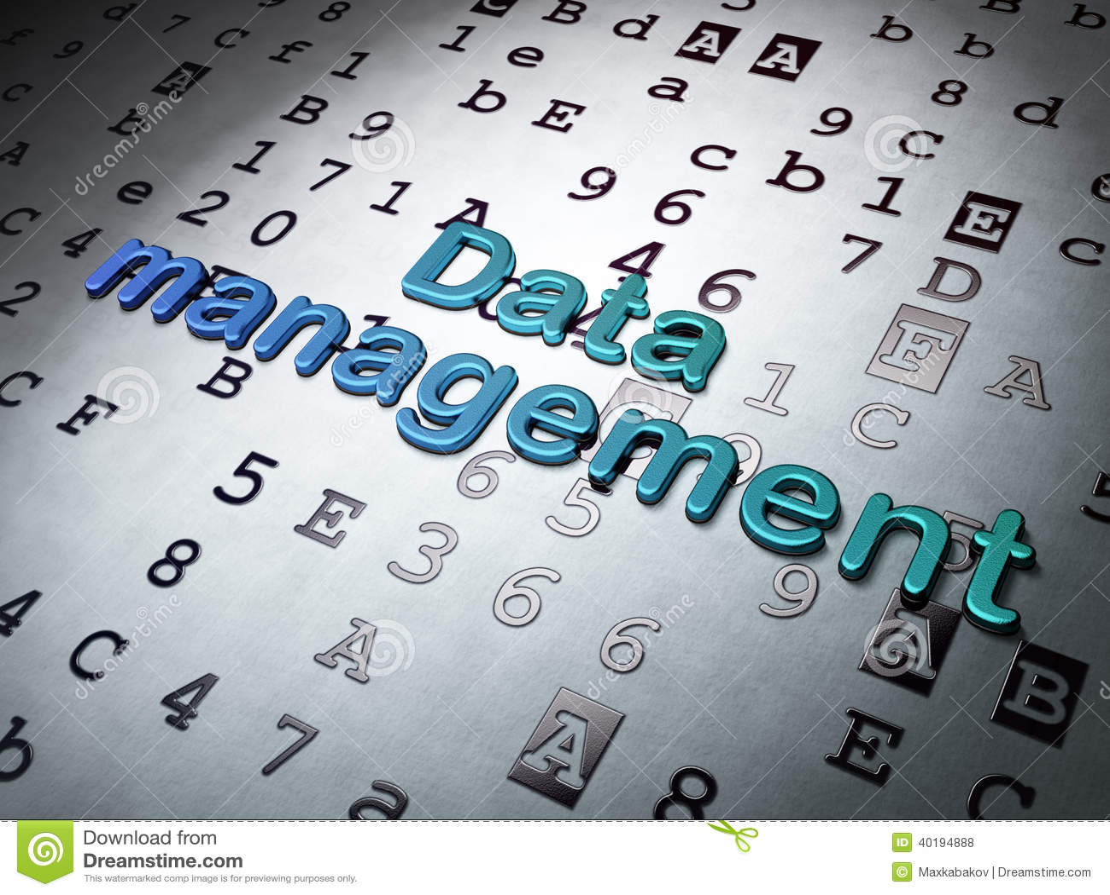 Information concept: Data Management on Hexadecimal Code background
