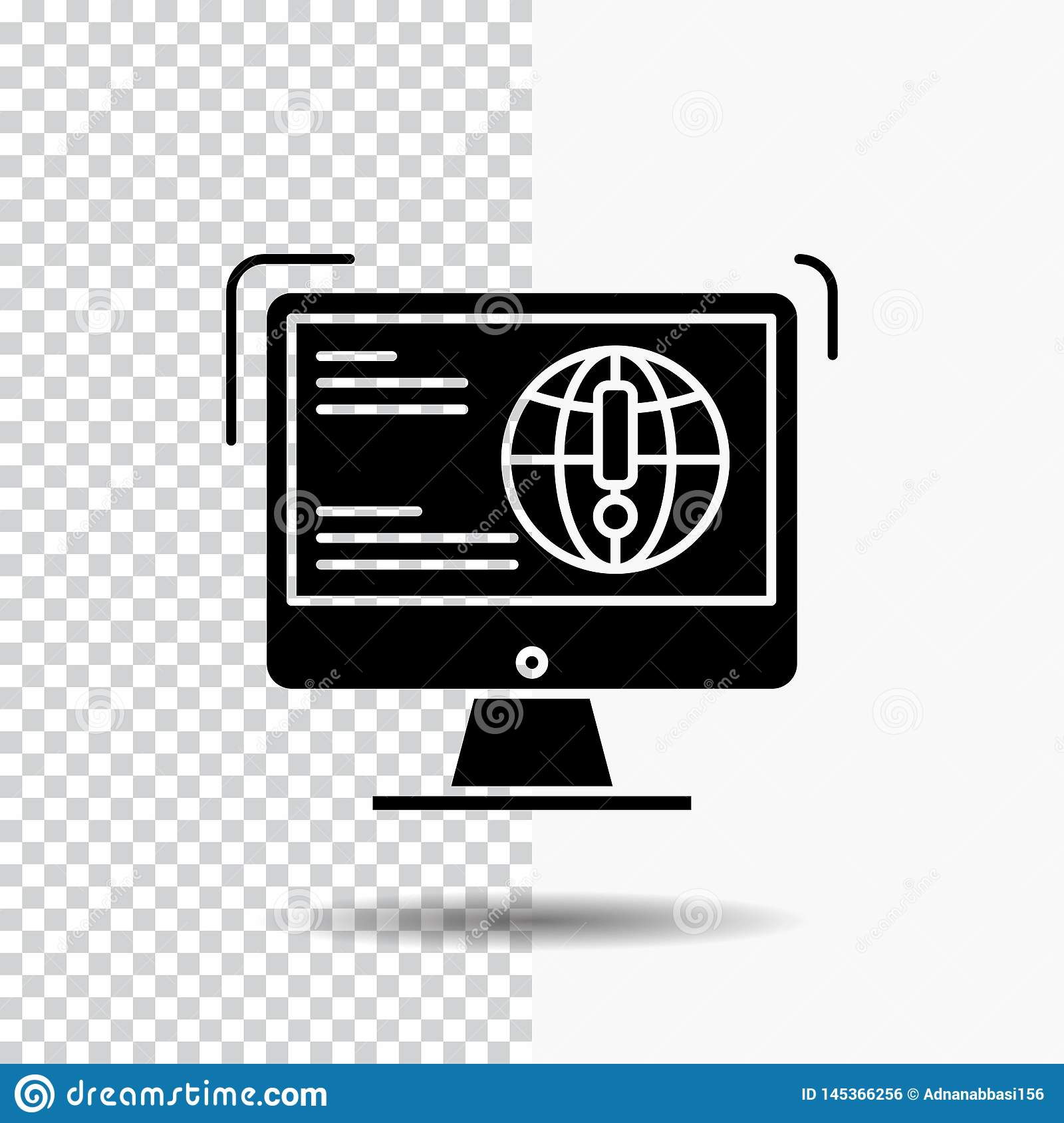 information, content, development, website, web Glyph Icon on Transparent Background. Black Icon