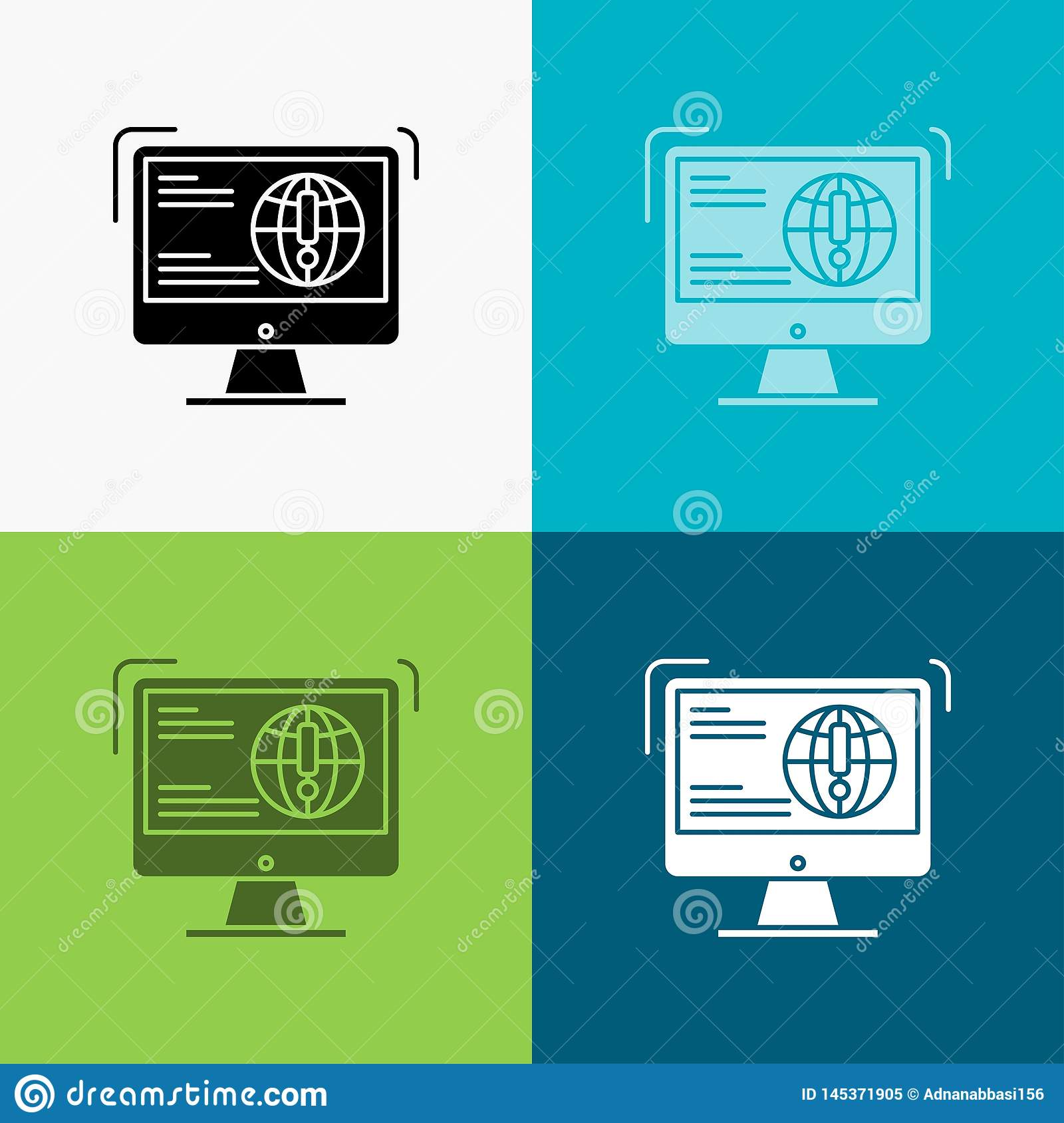 information, content, development, website, web Icon Over Various Background. glyph style design, designed for web and app. Eps 10