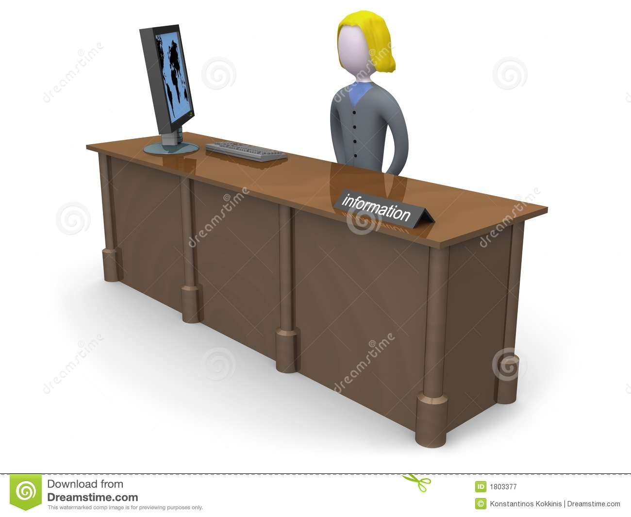Information Desk Royalty Free Stock Photography - Image: 1803377