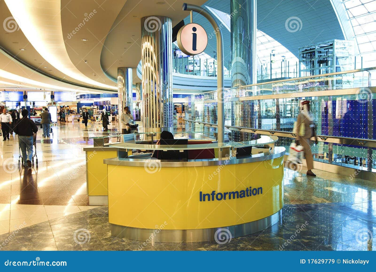 Information Desk In Dubai International Airport Editorial