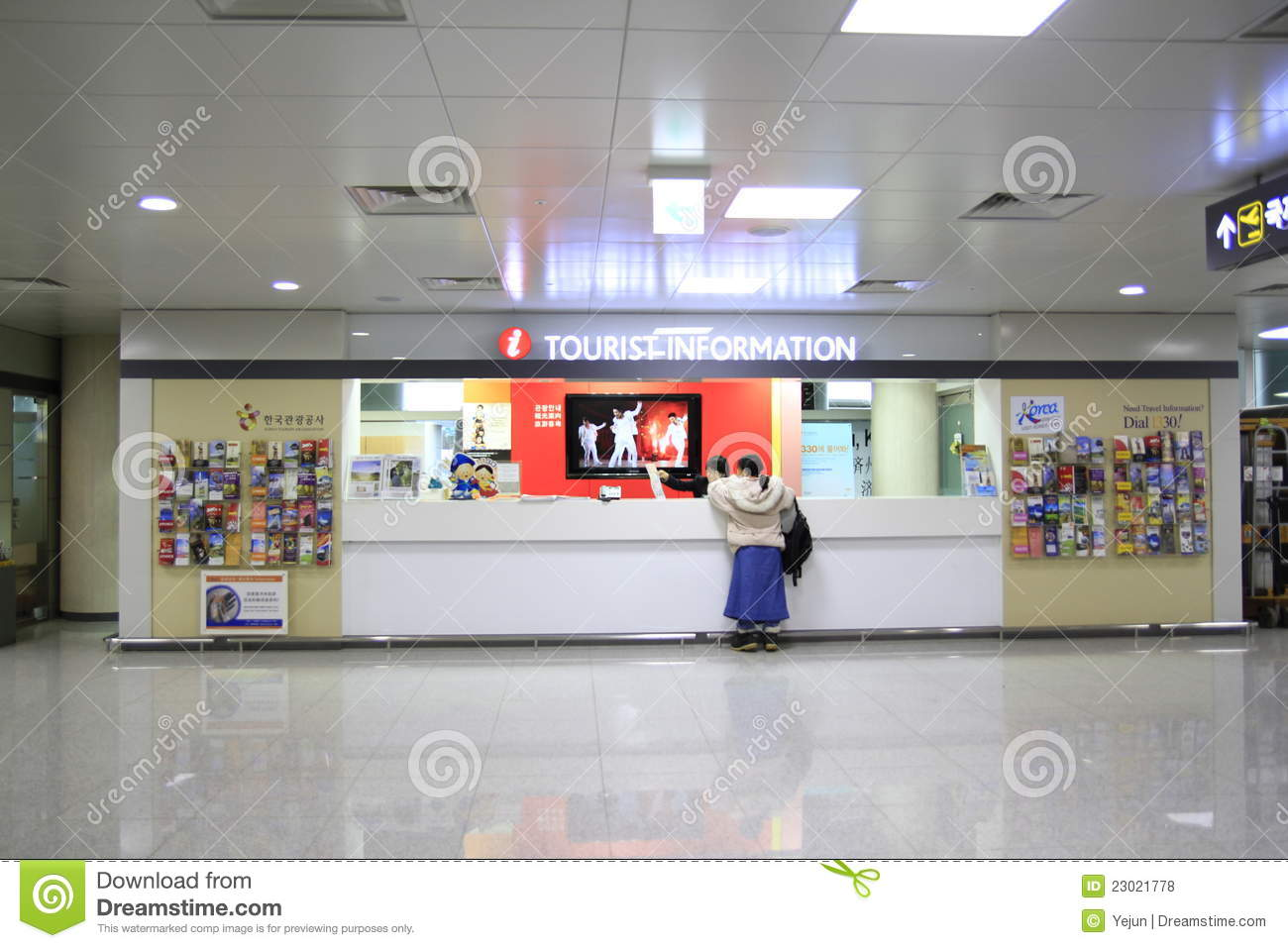 Information Desk Design information desk in dubai international airport editorial stock