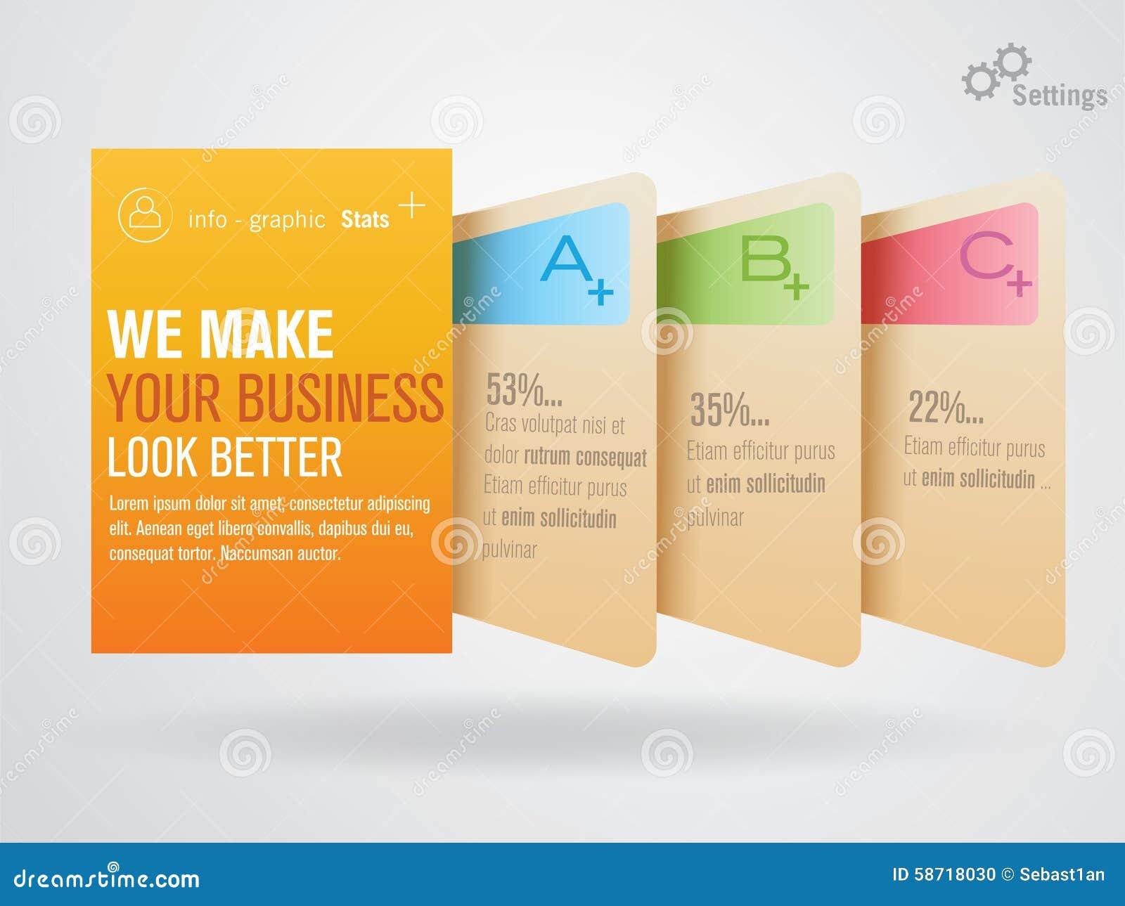 Information-Grafik-Vorsprünge