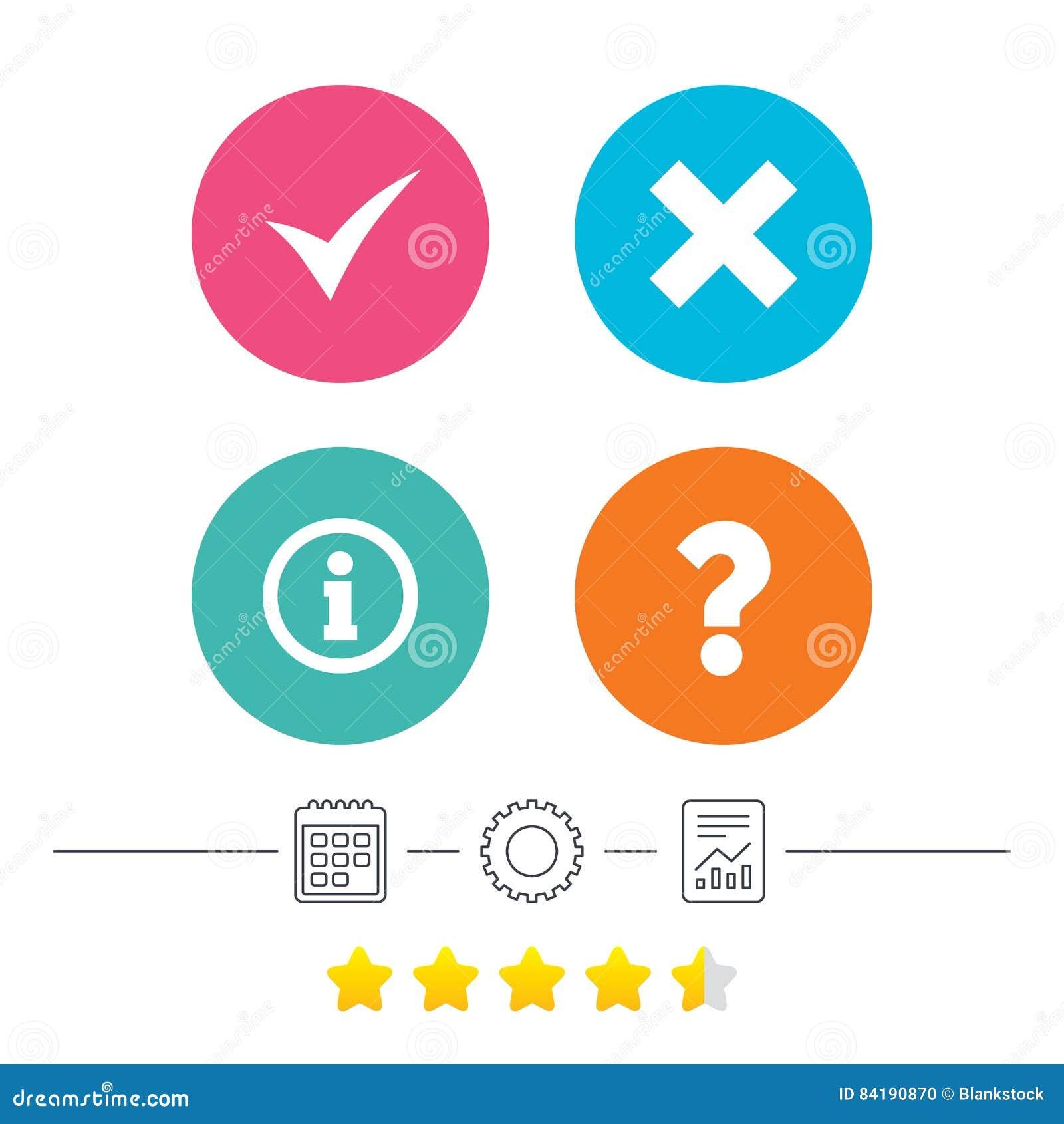 Calendar Illustration Questions : Information icons question faq symbol stock vector