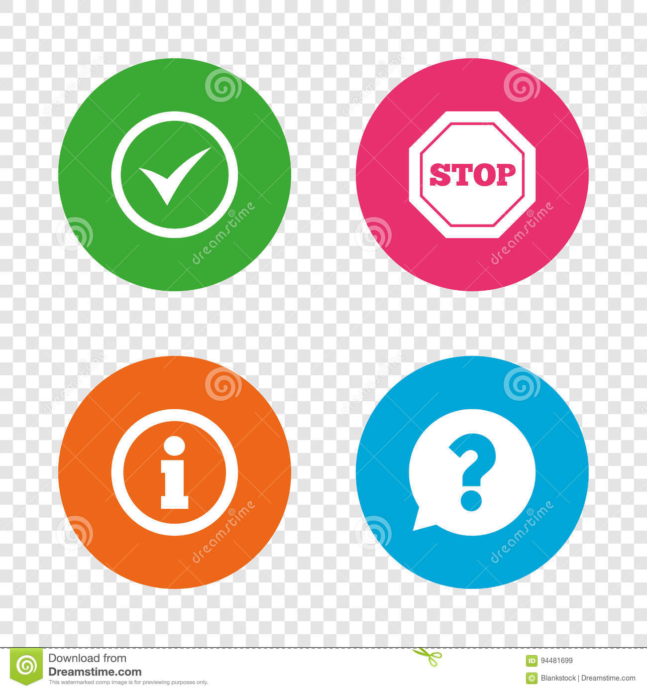 Information Icons  Stop Prohibition Symbol  Stock Vector