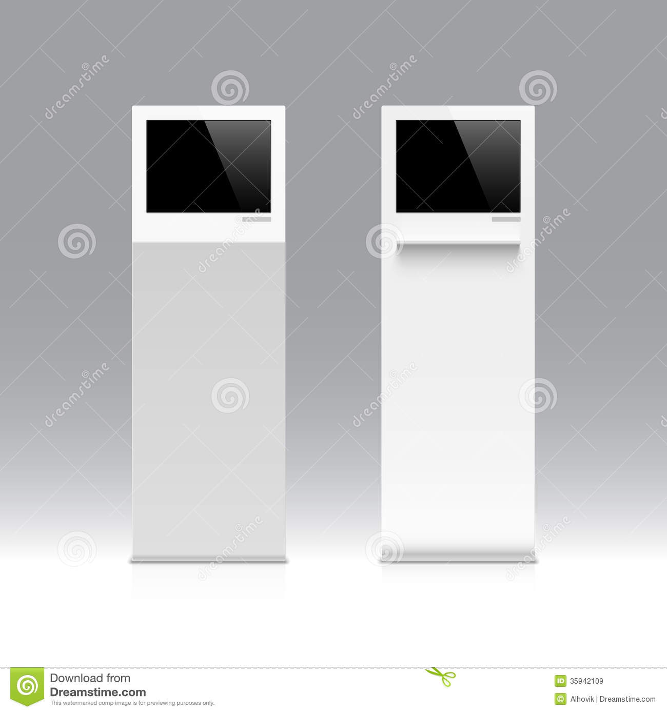 Exhibition Stand Vector : Information kiosk terminal stand royalty free stock