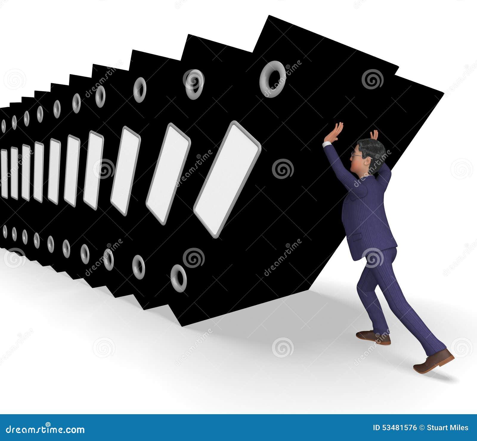 Organized Binder Clipart Businessman Overload W...